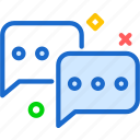 conversation, message, socialchat icon
