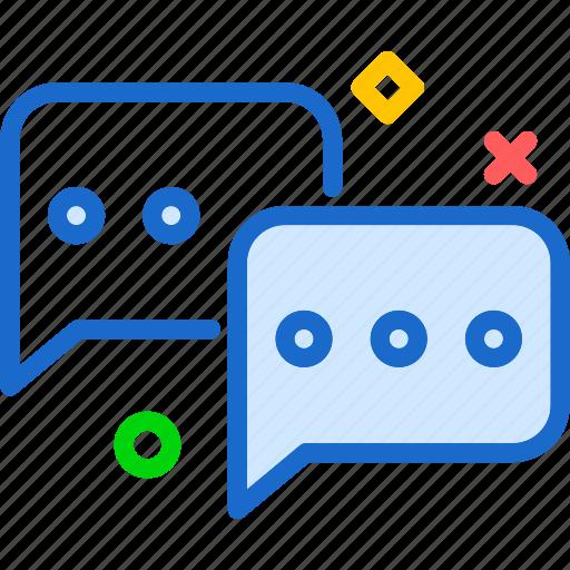 conversation, message, socialchat icon