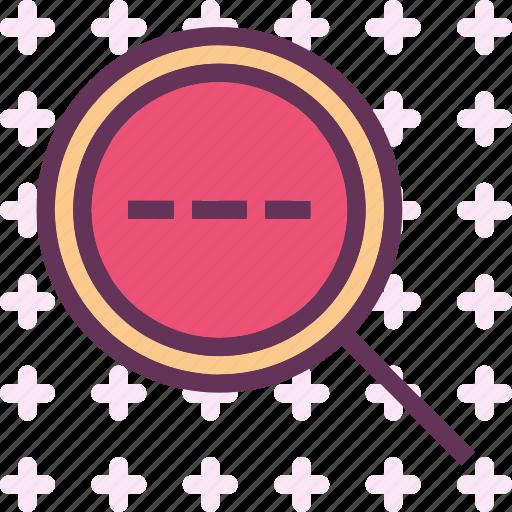 find, investigatedotted, research, search icon