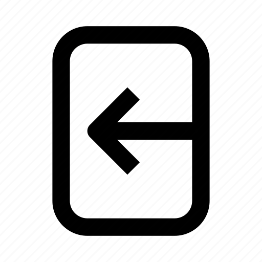 arrow, left, plate, sign icon