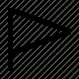 flag, pennant, race, triangle icon