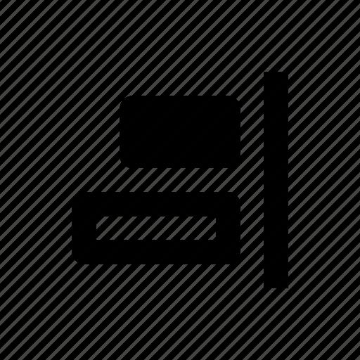 align, alignment, edges, horizontal, object, right, tool icon
