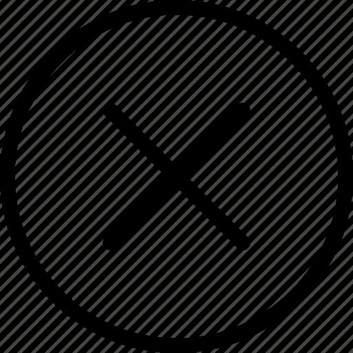 Browser Cancel Circle Close Creative Cross Data Delete