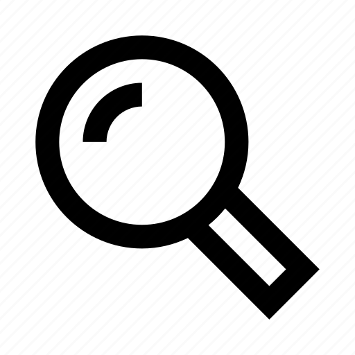 find, glare, lens, magnifier, search icon
