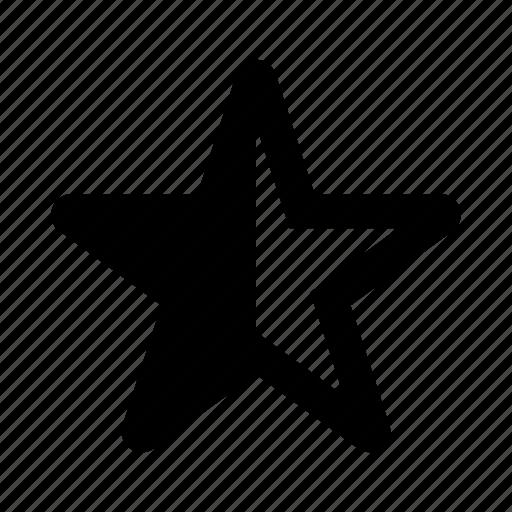favourite, half, rating, score, star icon