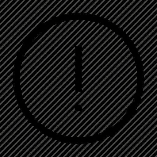 alert, attention, error, warning icon