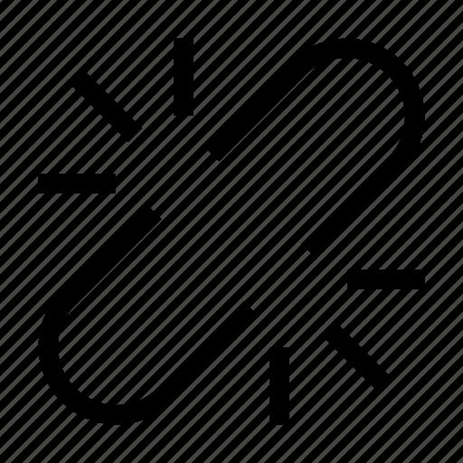 broken, chain, link, web icon