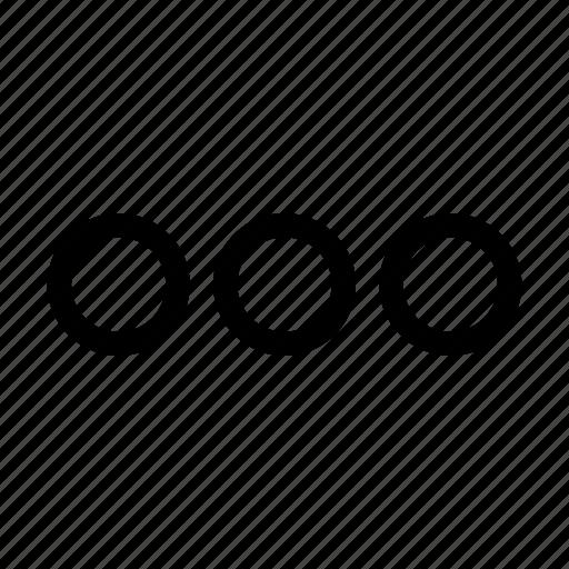 dots, horizontal, menu, more icon