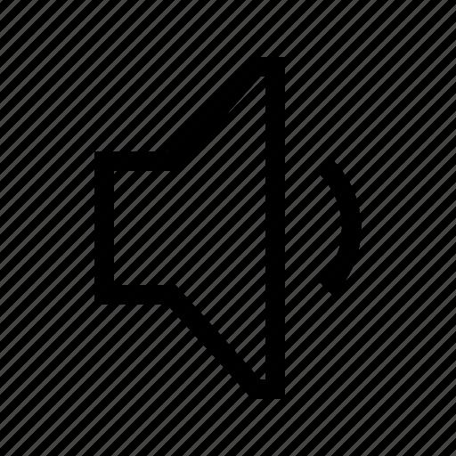 audio, down, sound, volume icon