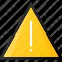 alert, attention, error, triangle