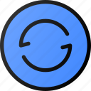 button, circle, interface, refresh, reload