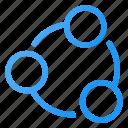 circle, interface, media, share, social