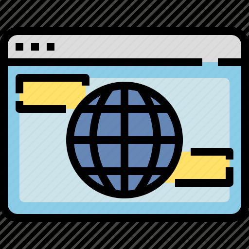 browser, connection, internet, online, website, worldwide icon