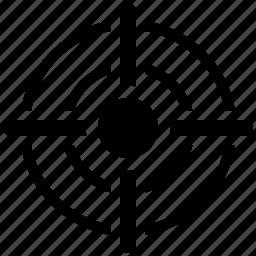aim, bullseye, crosshair, focus, point, spot, target icon