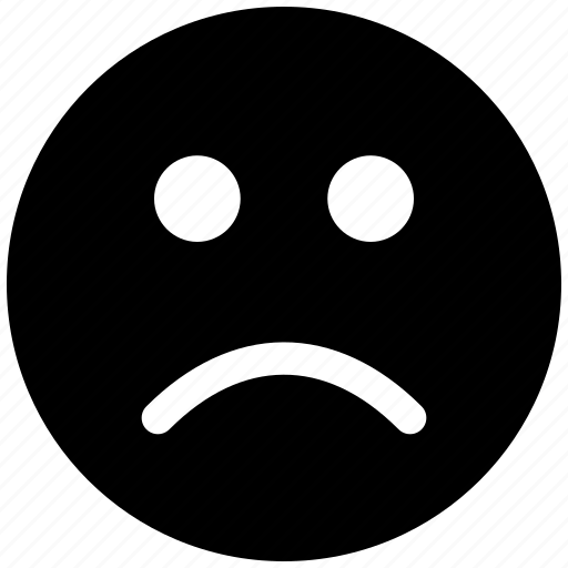 bad, dislike, emotion, face, sad, smiley icon