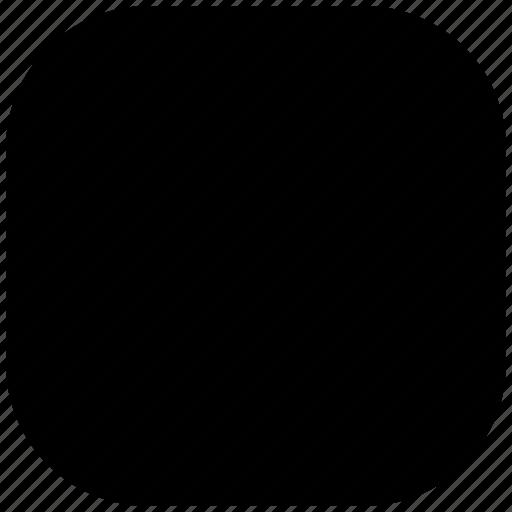 blank, empty, rectangle, round, shape, square icon