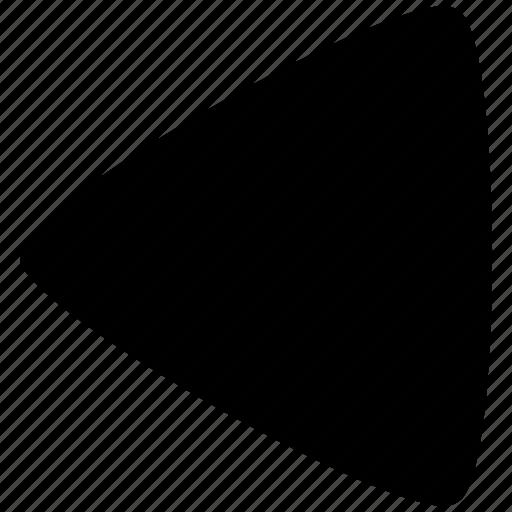 arrow, direction, left, move, previous, shape, triangle icon