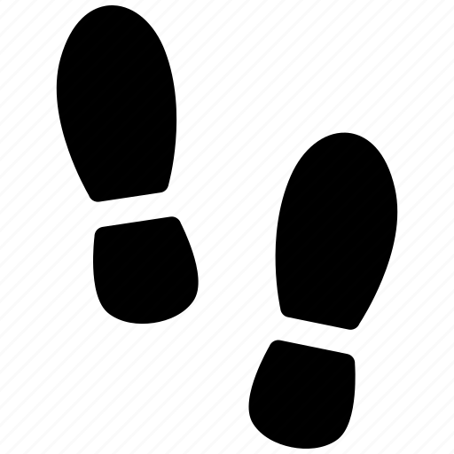 feet, foot, footprint, shoe, shoes, step, trace icon