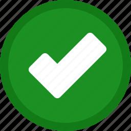 accept, check, checkmark, circle, green, ok, tick, yes icon