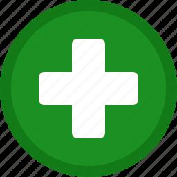 add, circle, create, green, new, plus icon