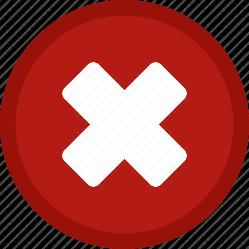 cancel, circle, close, delete, dismiss, exit, red, remove icon