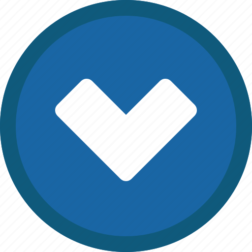 Chevron, circle, down, next, blue icon - Download on Iconfinder