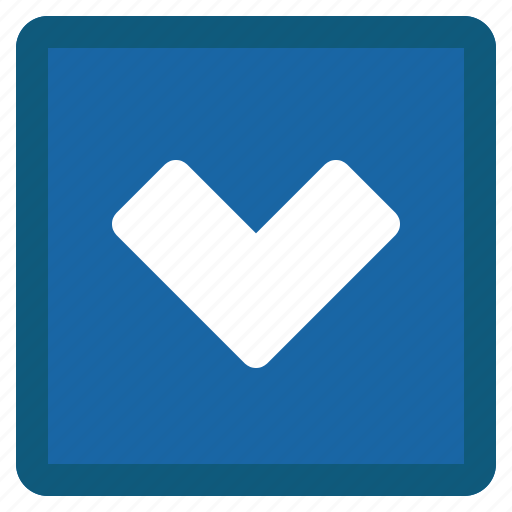 Chevron, down, next, square, blue icon - Download on Iconfinder