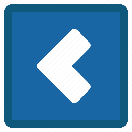 Back, chevron, left, previous, square, blue icon - Download on Iconfinder