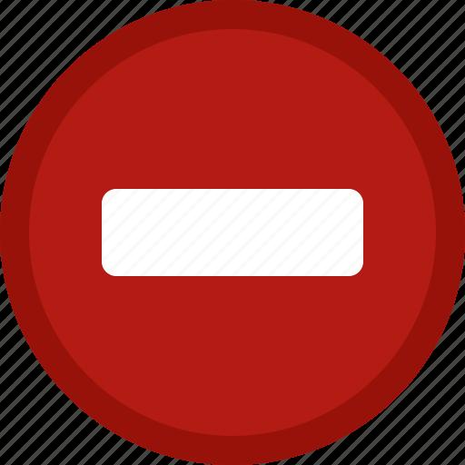 circle, close, delete, minus, red, remove icon