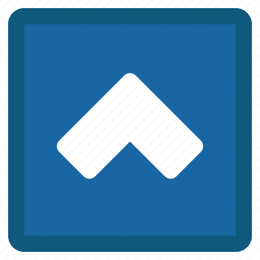 blue, chevron, previous, square, up icon