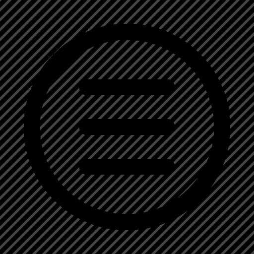 bar, essential, interface, menu, selection icon