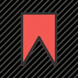 bookmark, favorite, internet, notepad, paper, sticker icon