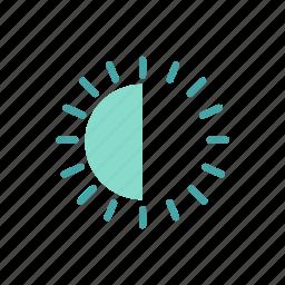 brightness, brightness setting, display brightness, interface icon