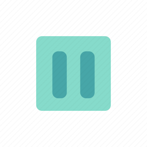 Button pause, button player, interface, pause, player icon - Download on Iconfinder