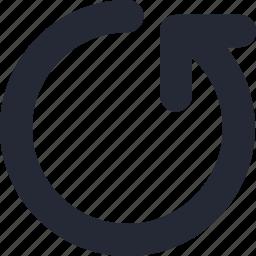 arrow, back, previous, return icon
