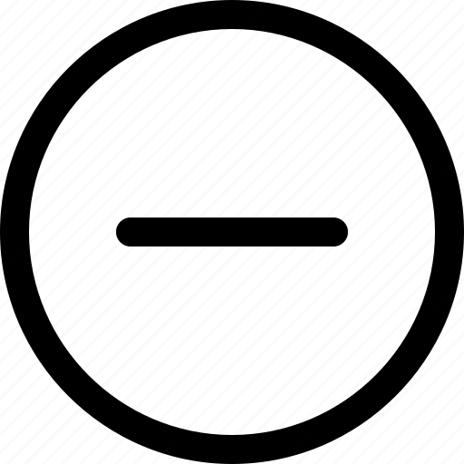 app, delete, interface, less, outline, ui, ux icon