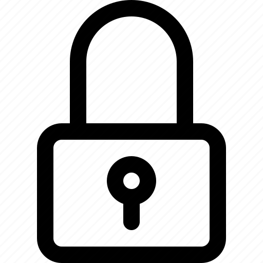 interface, lock, outline, padlock, protection, safe, safety icon