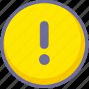 alert, error, warning icon