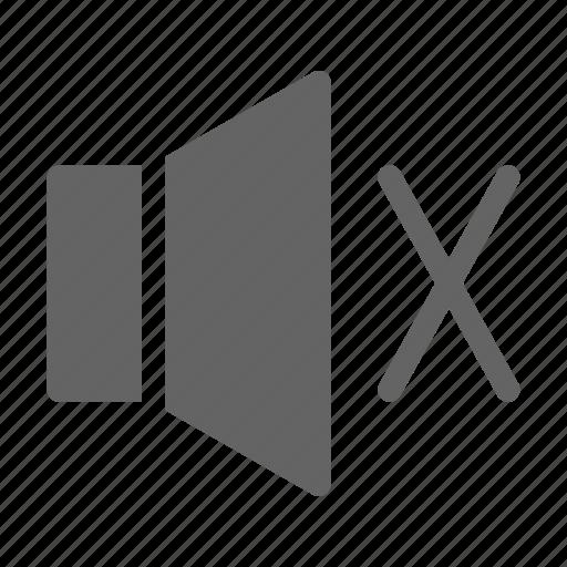 audio, mute, silent icon