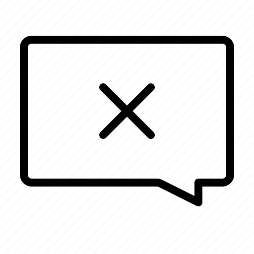 cancel, chat, communication, delete, interaction, remove icon