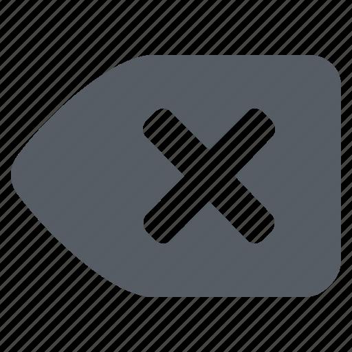 arrow, backspace, interface, left icon