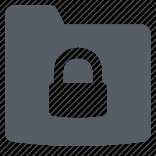 folder, interface, lock, security icon