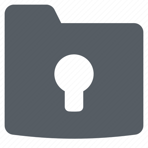 Folder, interface, lock, secure icon - Download on Iconfinder
