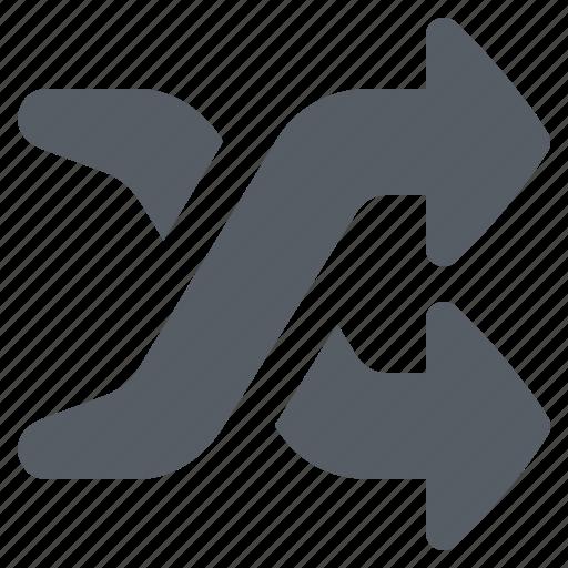 arrow, interface, shuffle icon