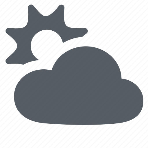 climate, cloudy, forecast, lining, silver, sun, weather icon