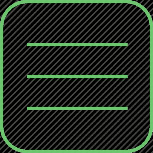 letter, list, main, menu, message, more, text icon
