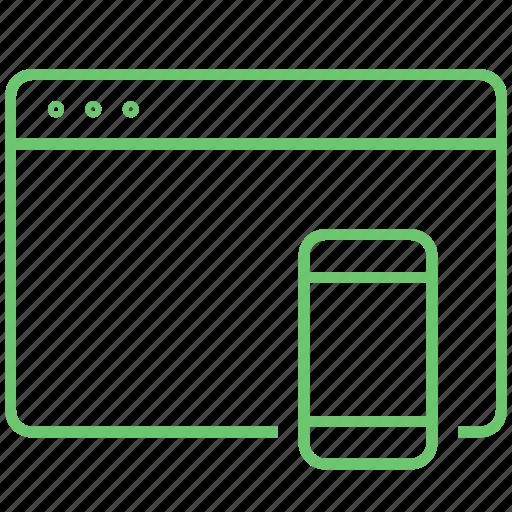 app, device, internet, page, web, window icon