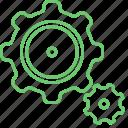 configuration, gear, options, repair, service, settings, tools