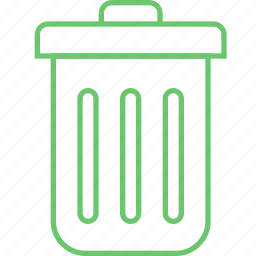 basket, can, delete, remove, trash icon