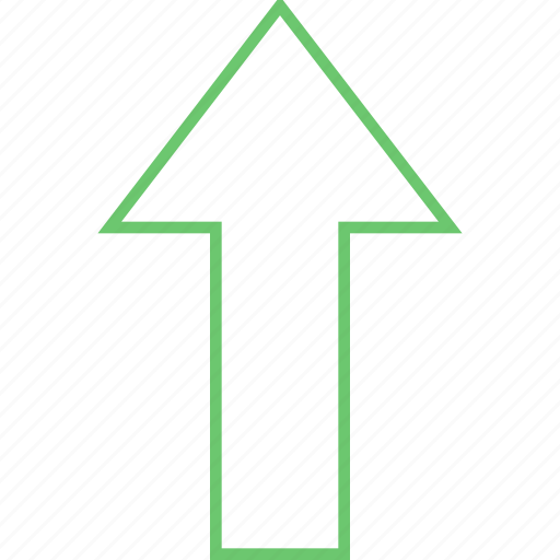 arrow, cursor, forward, further, next, pointer, up icon
